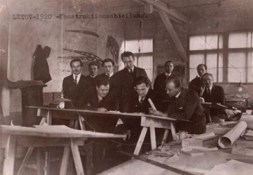Мастерская Летова в 1920 году,