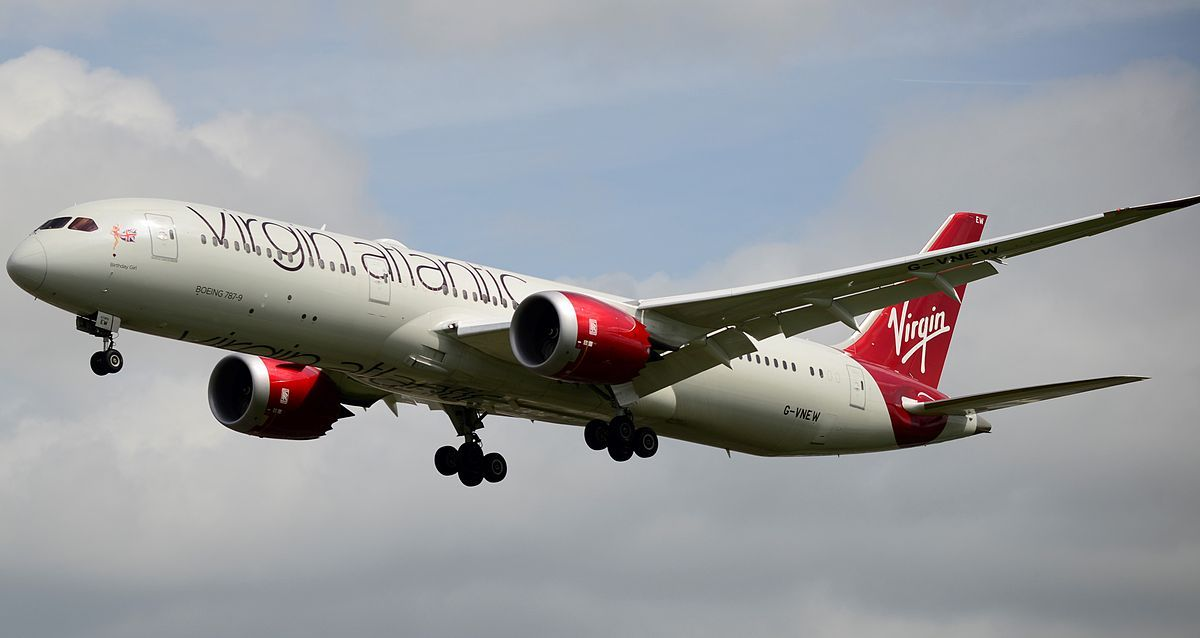 Letoun Virgin Atlantic