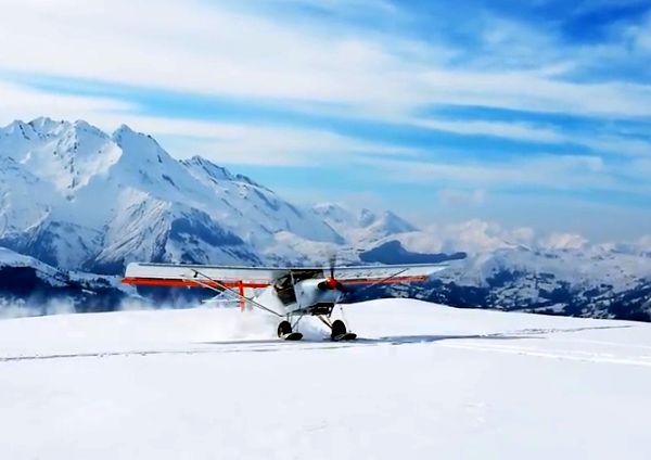 Očima pilotů: Zimní Pyreneje