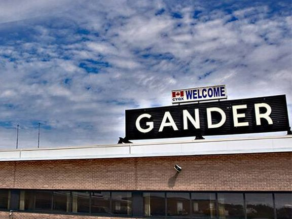 Gander: záchrana na cestě přes oceán