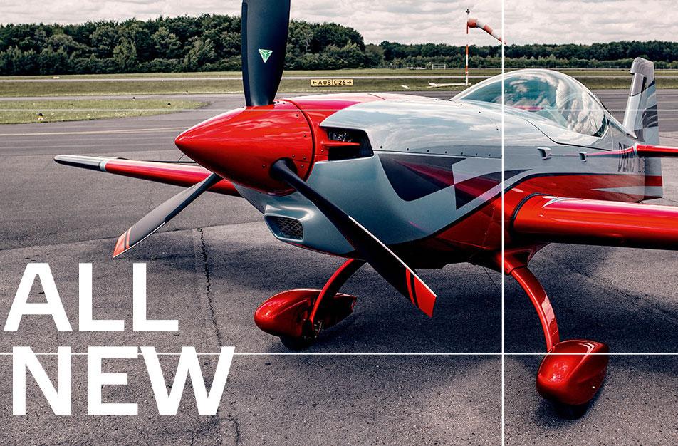 Walter Extra ukázal nový akrobatický letoun z uhlíkových vláken