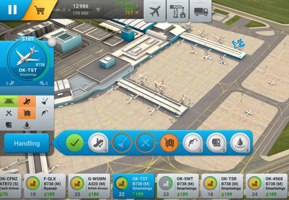 Nová hra World of Airports umožňuje řídit provoz na pražském letišti