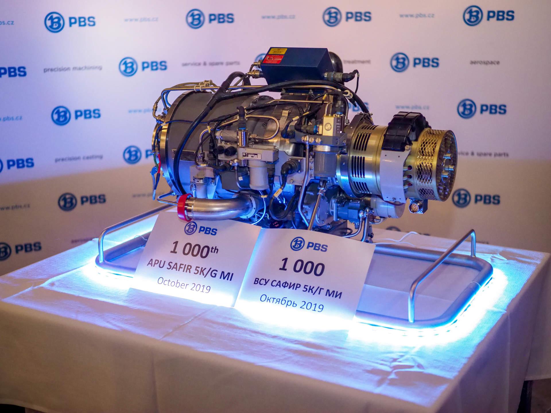 PBS Velká Bíteš slaví 1 000 vyrobených kusů APU Safír