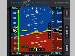 Glass kokpit Aspen Evolution E5 obdržel certifikaci EASA