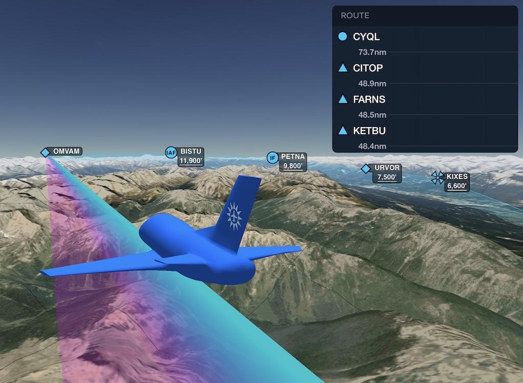 ForeFlight přichází s funkcí 3D zobrazení příletových a odletových tratí