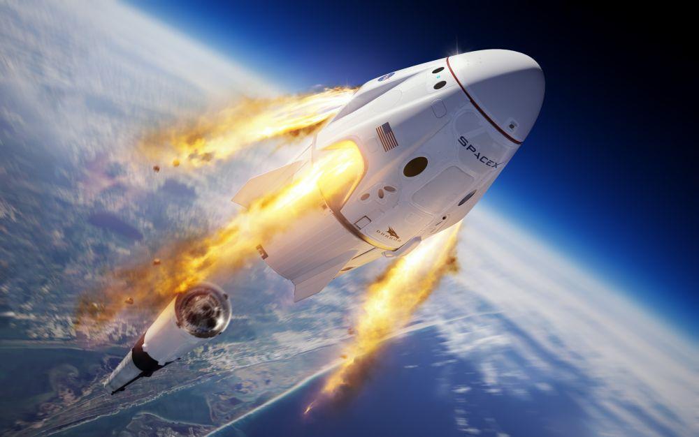 Crew Dragon se spojil s ISS, USA mění historii letů do vesmíru