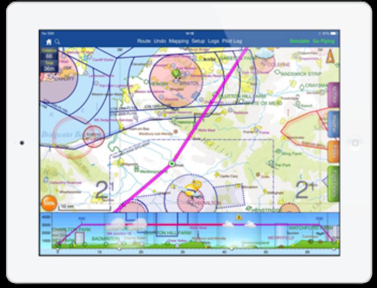 Aplikace SkyDemon brzy zobrazí AUP a počasí dle nastavení pilota