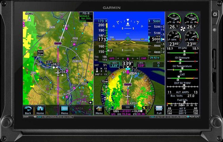 Garmin vydal aktualizaci přístrojů G500TXi a G600TXi
