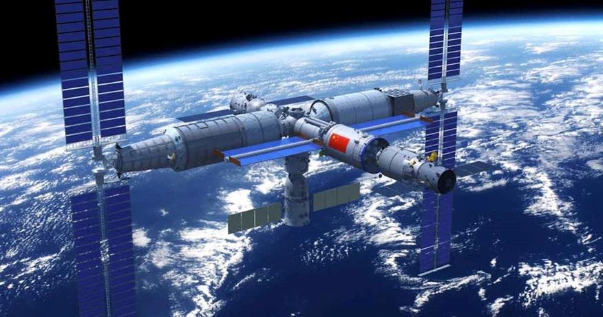Čína staví stanici. Orbitální