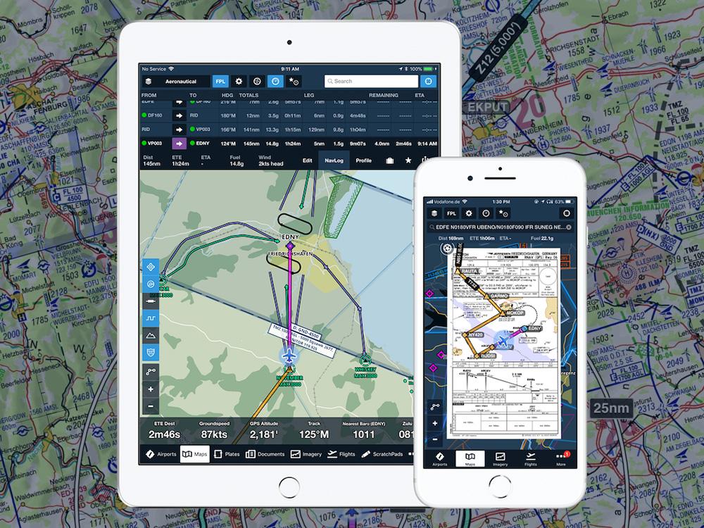 ForeFlight v aktualizaci přináší noční režim či 3D vizualizaci dráhy