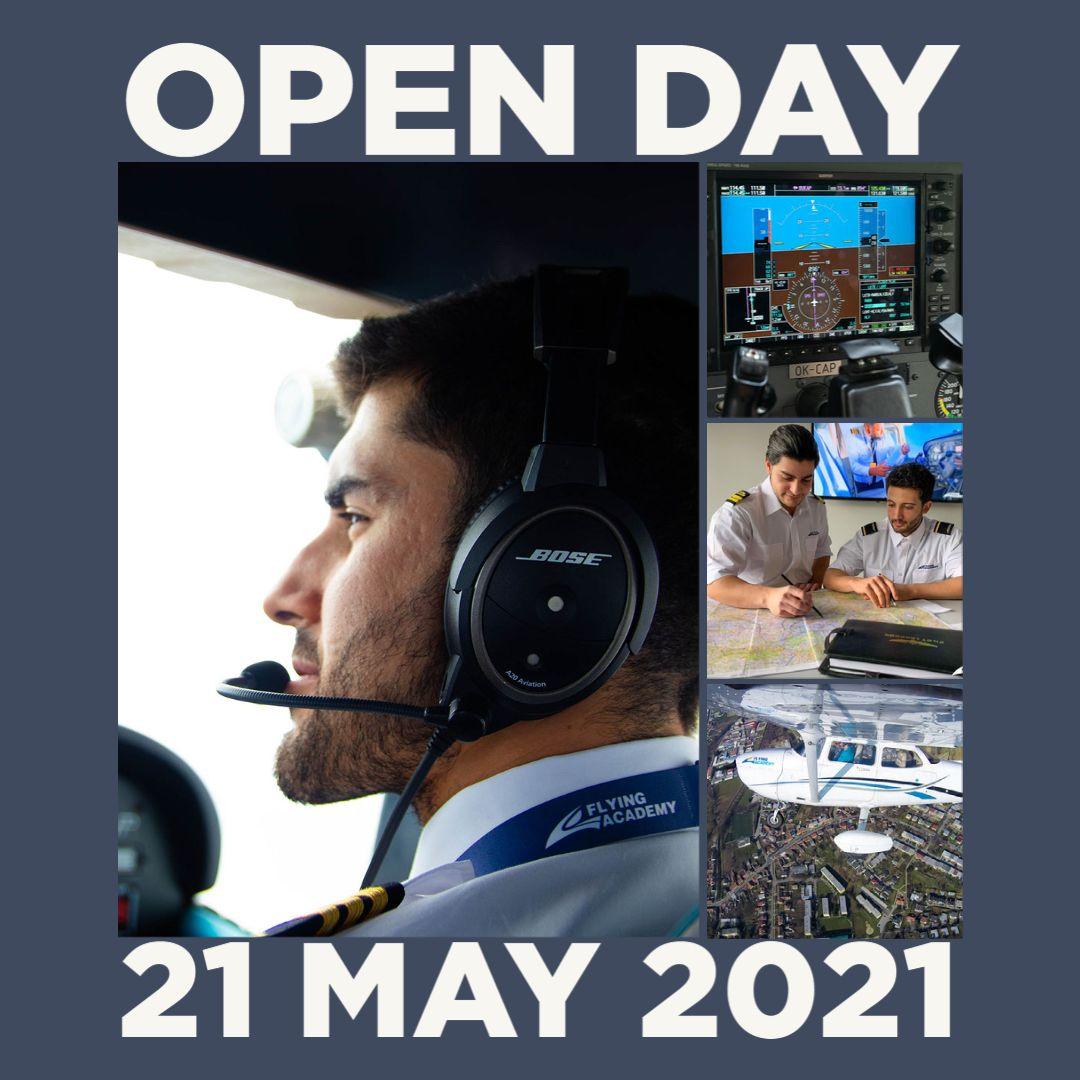 V pátek 21. května proběhne ve Flying Academy v Praze Den otevřených dveří