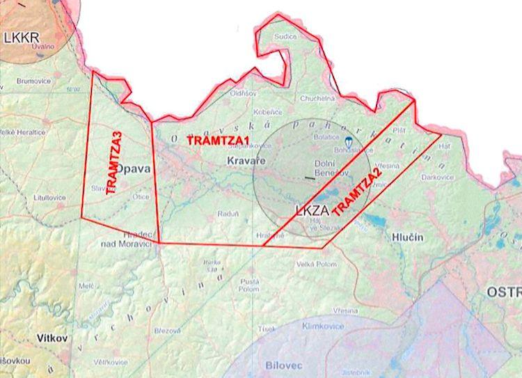 Kolem letiště Zábřeh budou zřízeny tři prostory TRA GA