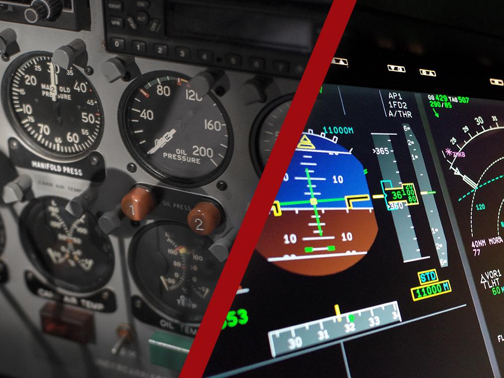 Analogové vs. digitální přístroje ve všeobecném letectví