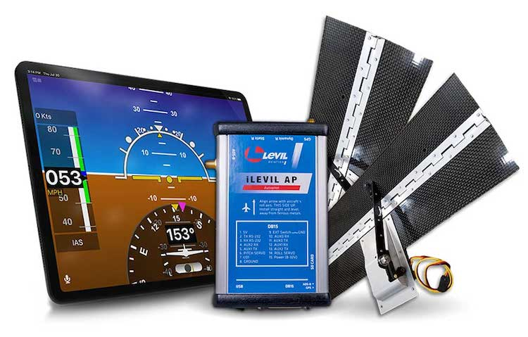 Levil Aviation představil levného autopilota ovládaného pomocí tebletu